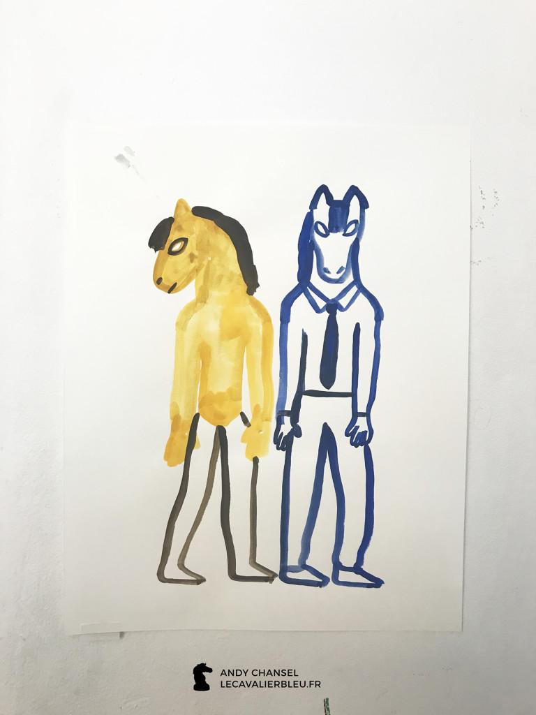 Iris De Moüy - Le cavalier bleu