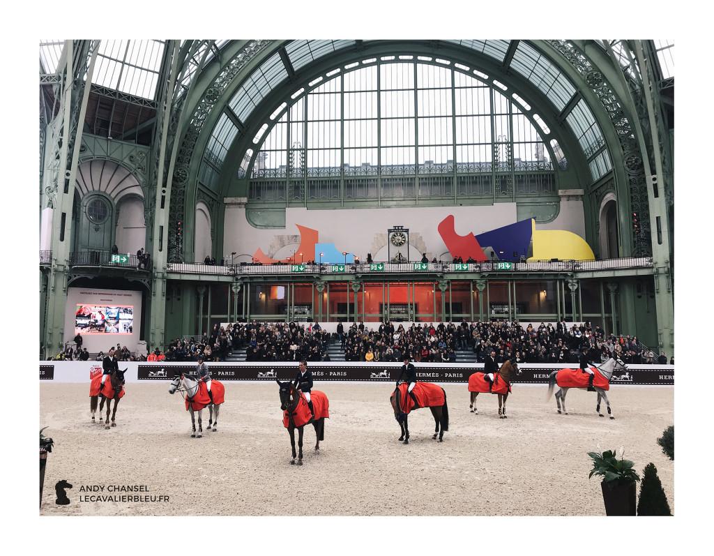 Saut Hermès - Le cavalier bleu